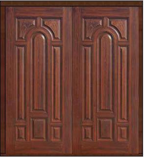Prehung house double door 80 fiberglass 8 panel solid for 8 panel solid wood doors