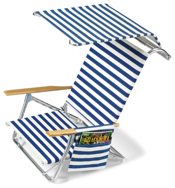Telescope Casual Beach Chair With Canopy Amp Side Bag