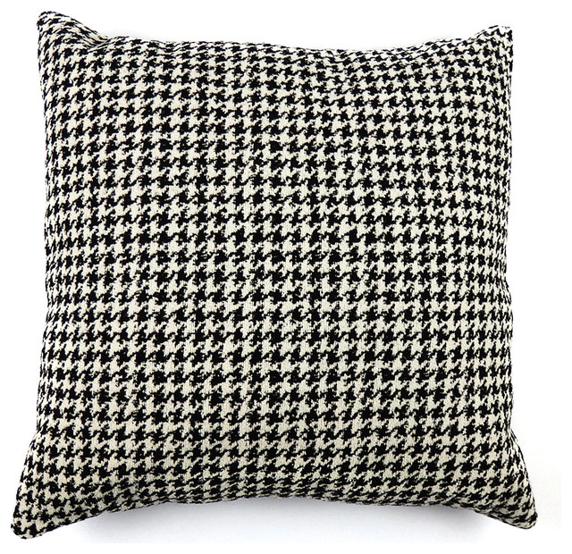 houndstooth decorative pillow cover traditional