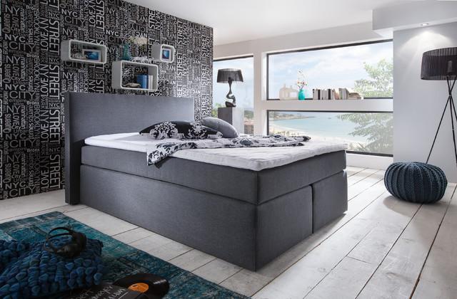 Design boxspringbett im schlafzimmer for Stilvoll schlafzimmer modern braun boxspringbett