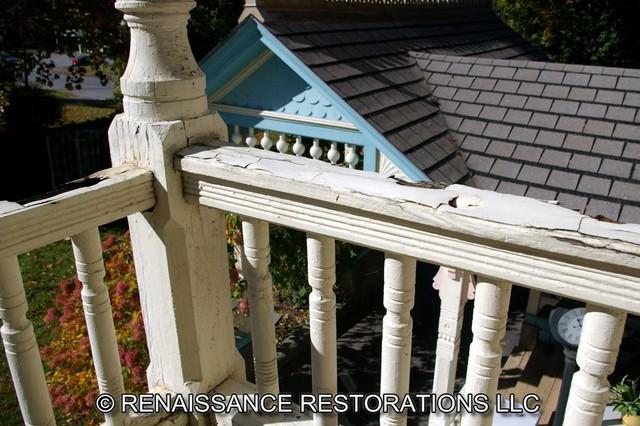 Porch rebuild elisha brimhall residence clinton ma for 460 longview terrace greenville sc