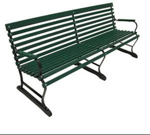 Modern Outdoor Benches : Paddock Style Wood Bench - Modern - Outdoor Benches