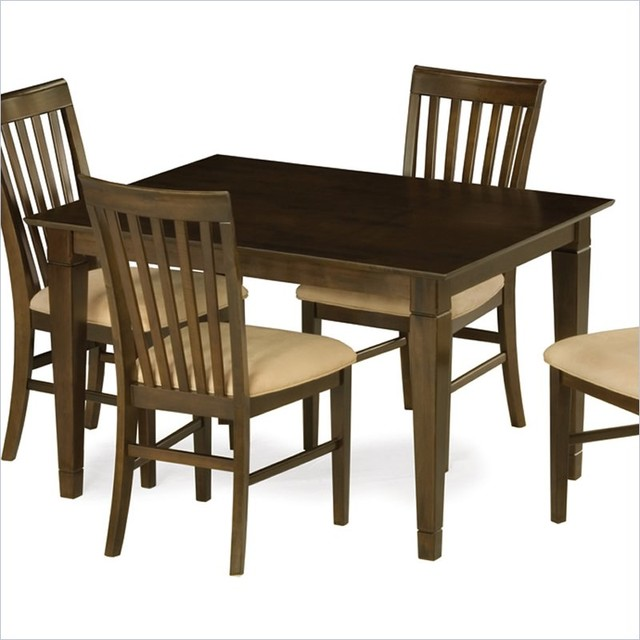 Deco Dining Table In Antique Walnut Contemporary Dining Tables New York