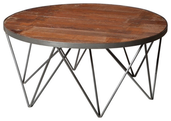 Napa Round Coffee Table Contemporary Coffee Tables By