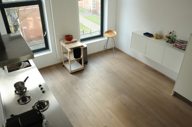 My houzz minimalist living in rotterdam contemporary for Kitchen 87 mount holly