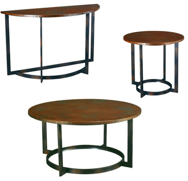 Hammary Nueva Round Coffee Table Set Traditional Coffee Table Sets By Beyond Stores