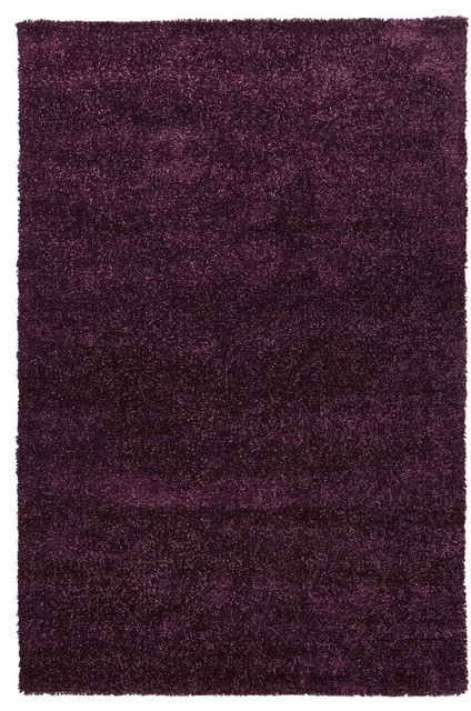 Contemporary mebec 7 39 9 x10 39 6 rectangle purple area rug for Purple area rugs contemporary