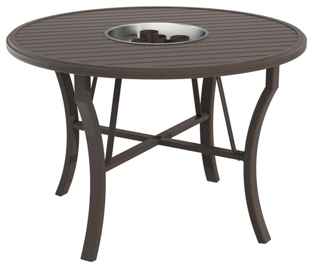 ... Round Counter Height Fire Pit Table - Gel Fuel traditional-fire-pits