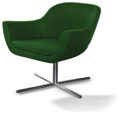 Green swivel lounge chair by b t design modern for Modern swivel accent chair