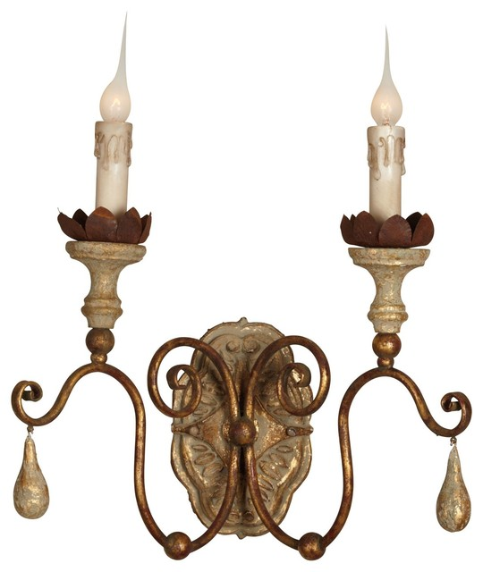 Illuminate a hallway or above your fireplace with the Caravelle sconce. solid ho - Contemporary ...