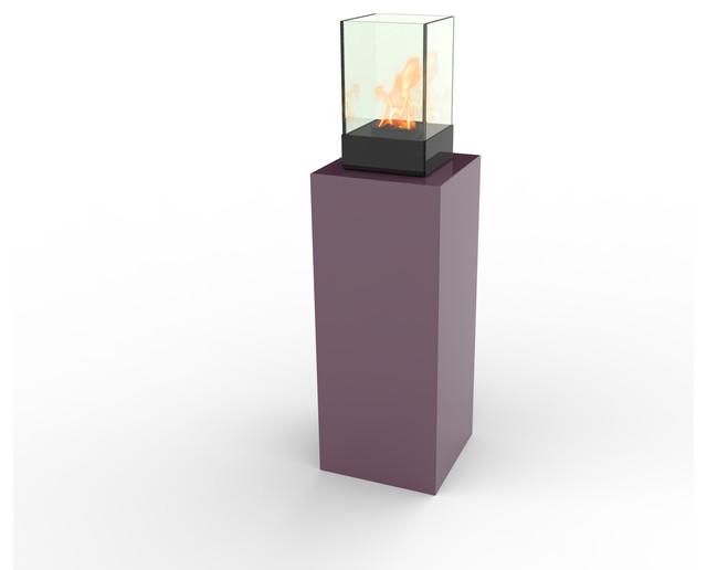 Vertikal Micro Outdoor Bio Ethanol Fireburner Stand Purple Modern Patio