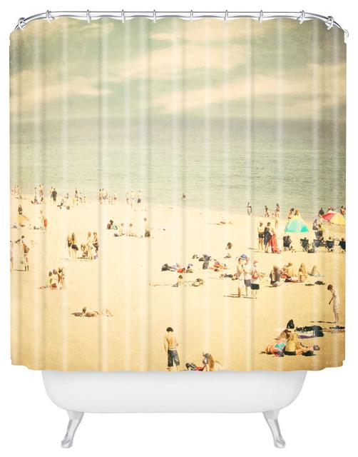 vintage beach shower curtain 69 x72 beach style