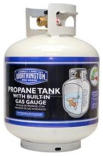 Worthington 308551 Propane Tank Gas Cylinder, With Gauge, Capacity 20 Lb - Traditional - Grill ...
