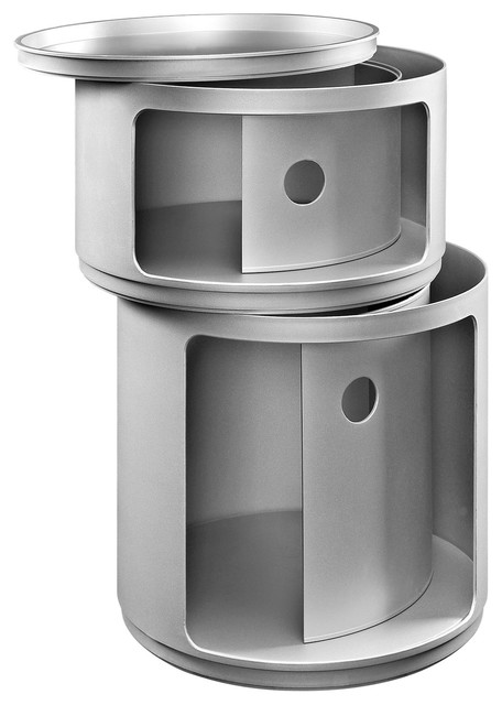 Modway Eei  Orbit Storage Module In Black Modern Trash Cans