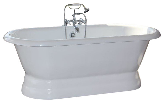 Majesty bone double pedestal tub traditional bathtubs for A table restoria