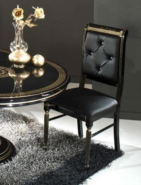 VIG Modrest Rosella Italian Classic Black Leather Dining