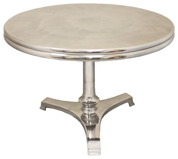 Aroma Round Silver Coffee Table Transitional Coffee Tables By