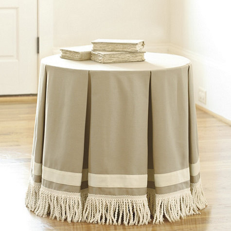 24 Round Pleated Terrific Trio With Bullion Fringe Traditional Indoor Pub And Bistro Sets