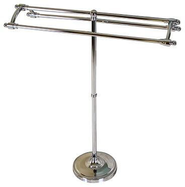 Pedestal Round Plate Towel Rack, Polished Chrome ...