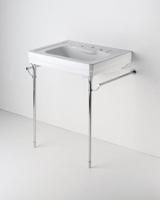 Metal round two leg single washstand traditional Double sink washstand