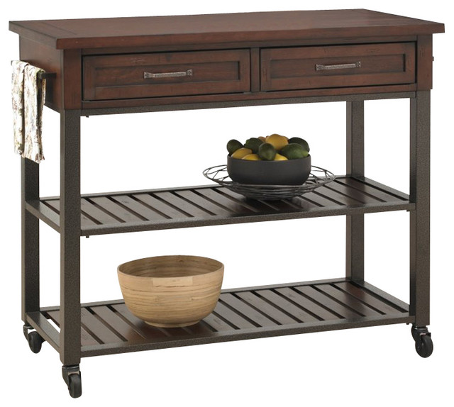 home styles cabin creek kitchen cart moderne klassik. Black Bedroom Furniture Sets. Home Design Ideas