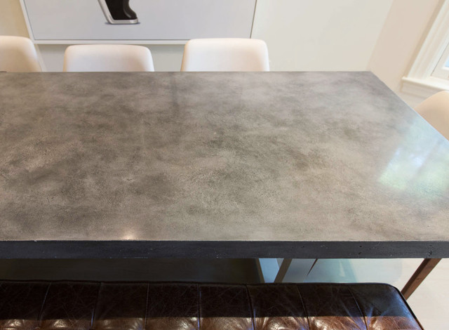 Custom Concrete Dining Room Table