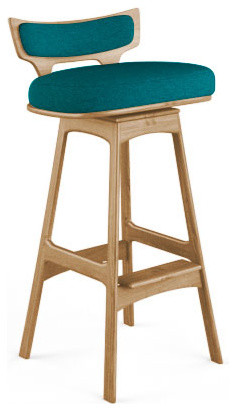 watson bar stool lucky turquoise blue midcentury bar stools and counter stools by. Black Bedroom Furniture Sets. Home Design Ideas