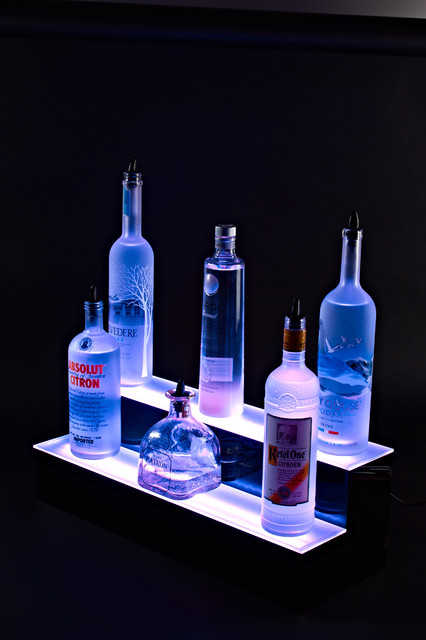led lighted bar shelves 2