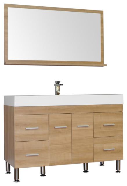47 single modern bathroom vanity light oak modern bathroom vanity units sink cabinets - Light oak bathroom vanity units ...
