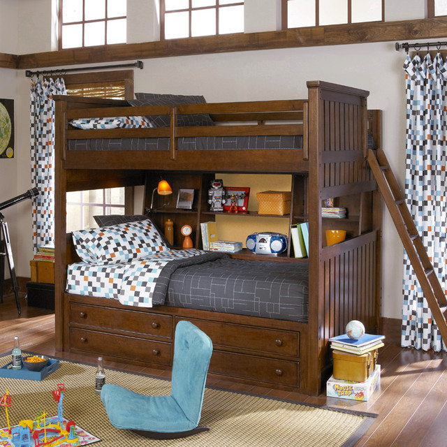 Mason Full Over Twin Bunk Bed with Bedside Storage