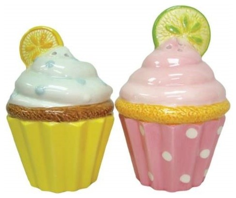 Inch colorful lemon and lime cupcakes salt and pepper Colorful salt and pepper shakers