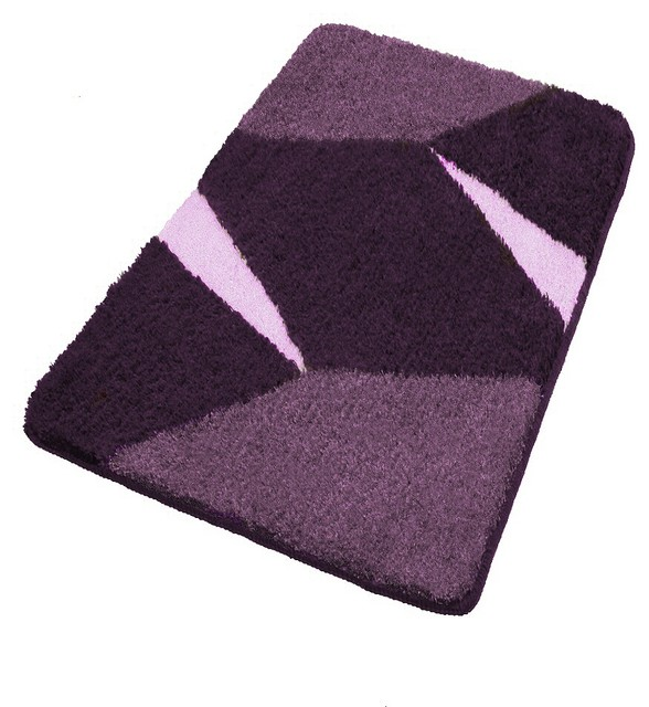 Purple non slip contemporary bathroom rugs extra large contemporary bath mats other metro - Designer bathroom rugs and mats ...