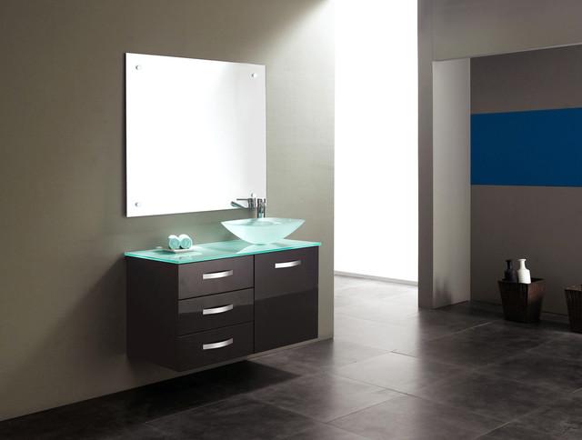 Tempered Glass Vanity Tops For A Striking Modern Bathroom Modern Vanity Tops And Side