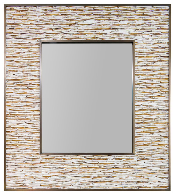 Miroirs rectangulaires exotique miroir mural other metro for Miroirs rectangulaires