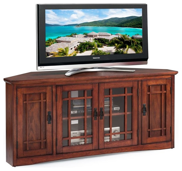 Mission Corner TV Stand - Entertainment Centers And Tv Stands - by Leick Home