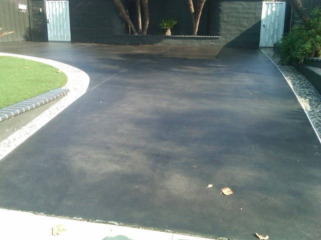 Black Stained Concrete Orange County By Joe 39 S Premium Painting