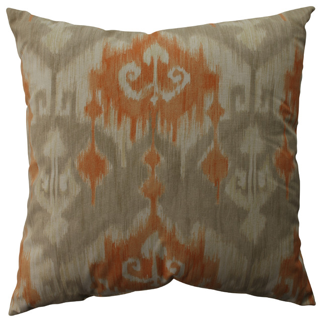 Orange Floor Pillows : Marlena Ikat Orange 23