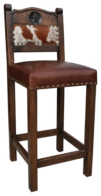 Hacienda Western Bar Stool Cowhide 24 Quot Counter Height