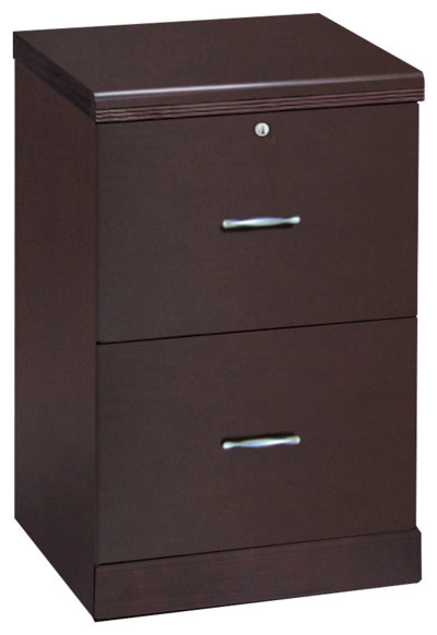 2-Drawer Espresso File, Vertical - Filing Cabinets - by Z-Line Designs