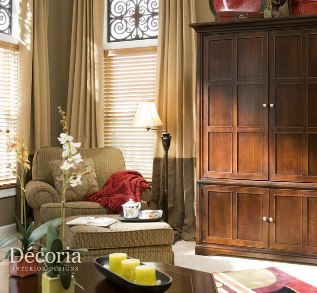 B residence traditional living room other metro by for Decoria interior designs