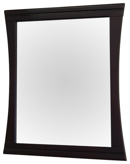 wood frame mirror 32 quot contemporary bathroom mirrors