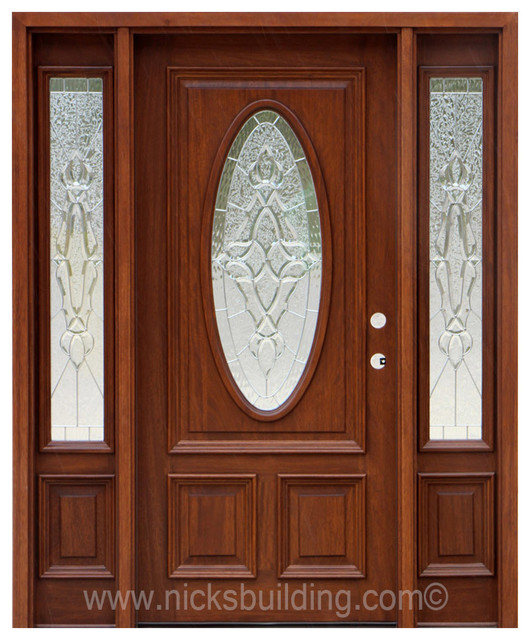 One Door Two Sidelights Entry Chicago By Nicks Building Supply