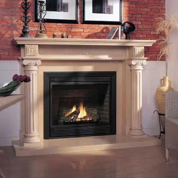 Marble Fireplace Mantels - Denbury - Traditional ...