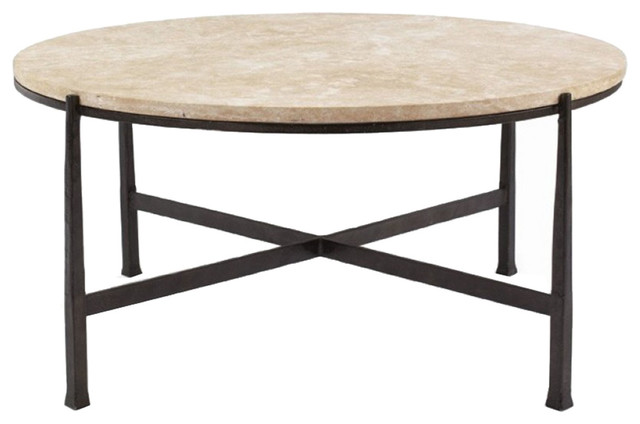 Bernhardt interiors duncan round metal cocktail table 418 016s 418 016 transitional coffee Bernhardt coffee tables