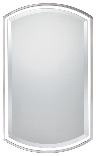 Quoizel lighting qr1419bn mirror in brushed nickel contemporary bathroom mirrors by for Bathroom mirrors brushed nickel