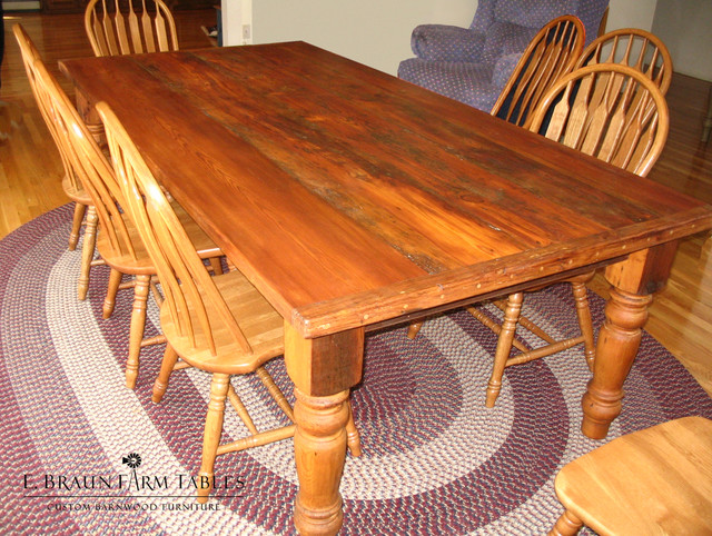 Reclaimed Barn Wood Farm Tables Farmhouse Dining Tables Other Metro B