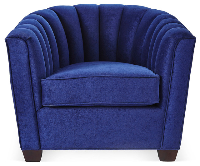Editor's Chair Royal Blue Armchairs And Accent Chairs