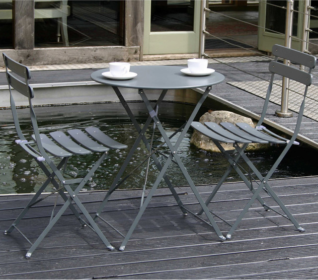 Metal Bistro Set Grey Traditional Garden Bistro Sets By Cox Cox