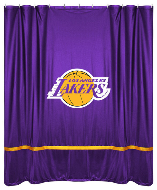 Sidelines Shower Curtain Lakers Shower Curtains By
