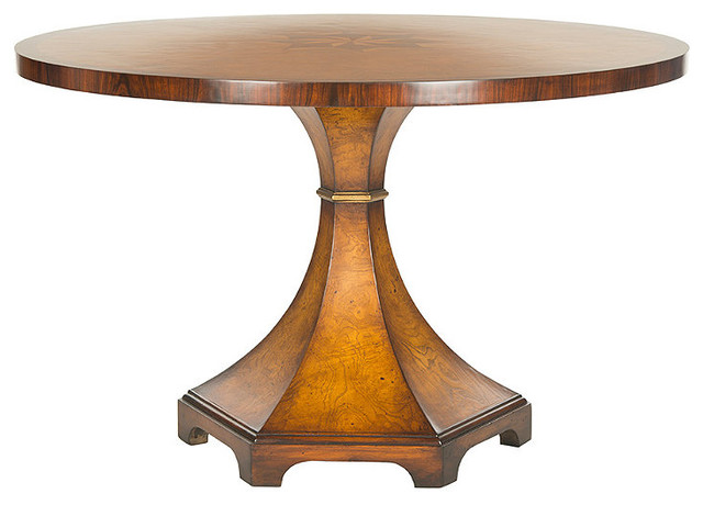 Oriel round center table traditional dining tables for Traditional dining table uk